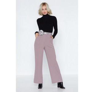 nwt nasty gal wide leg tailored pants lilac 6